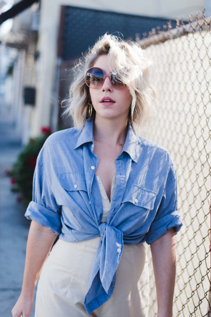 Chambray Shirts For Women 2021