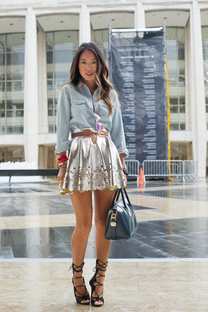 2018 Metallic Fashion Trend For Women (19)