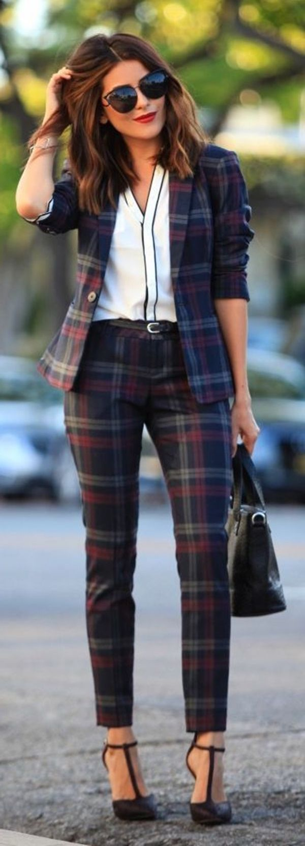 2018 Plaid Print Clothes For Women (10)
