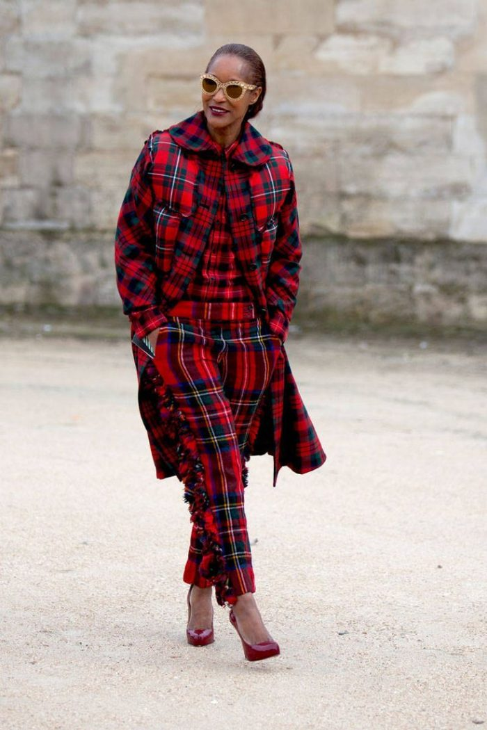 2018 Plaid Print Clothes For Women (7)