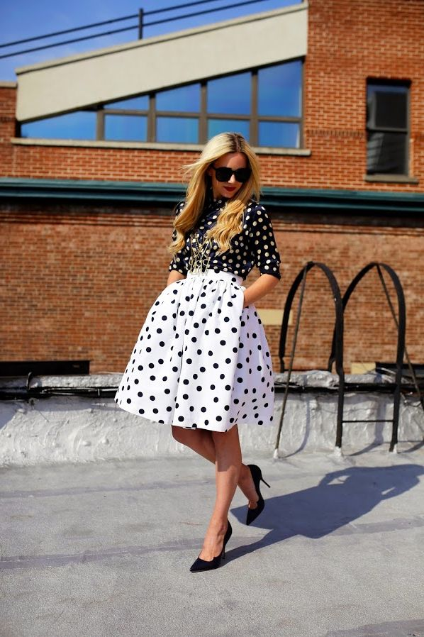 2018 Polka Dots Print Trend For Women (11)
