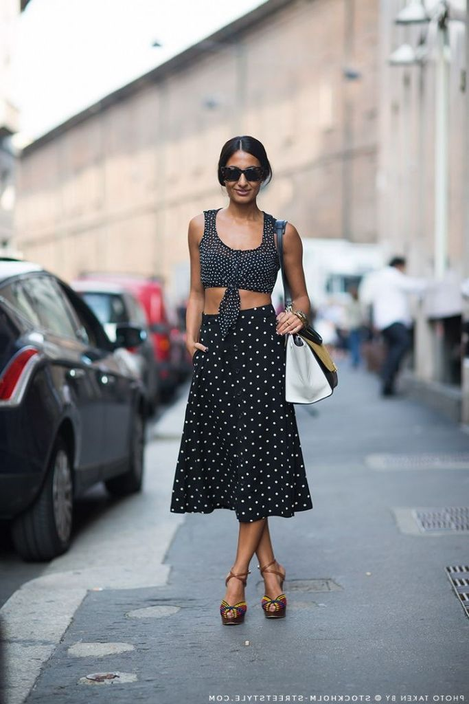 2018 Polka Dots Print Trend For Women (18)