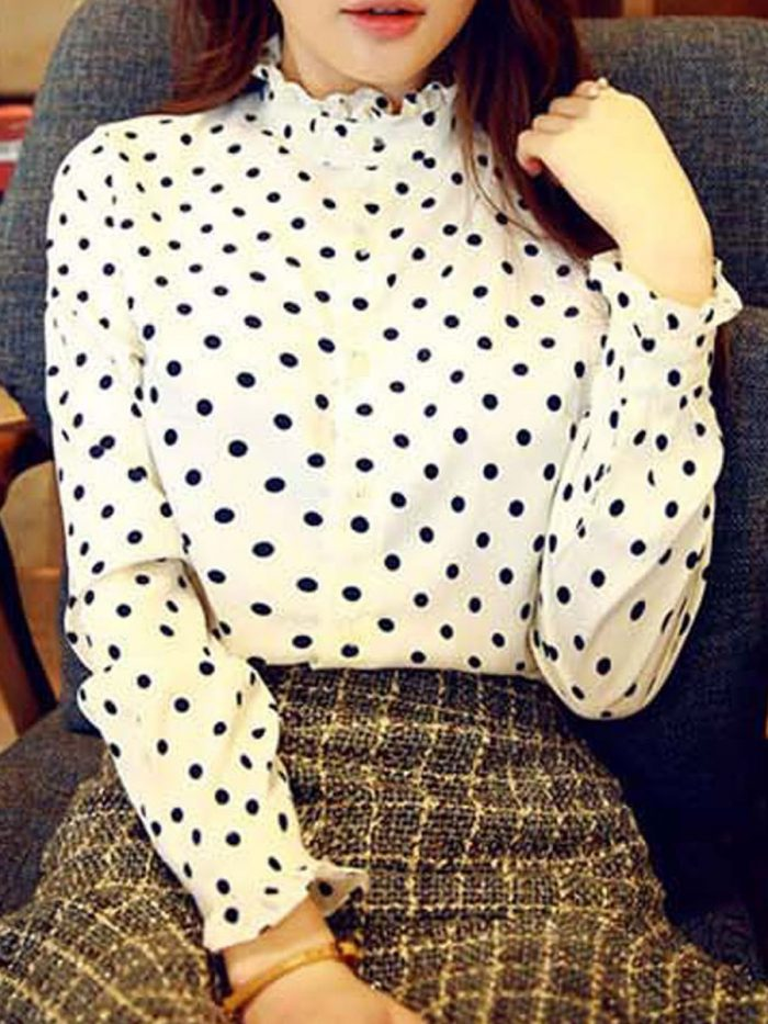 2018 Polka Dots Print Trend For Women (26)