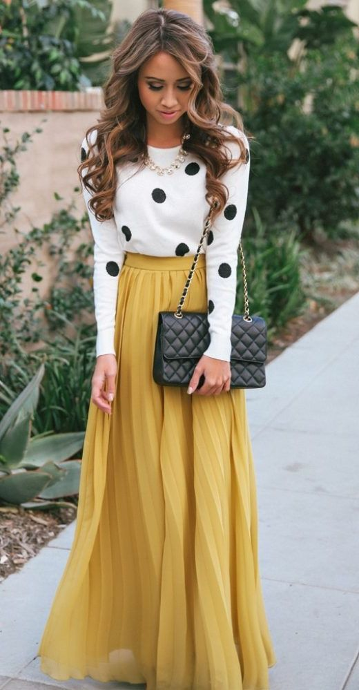 2018 Polka Dots Print Trend For Women (3)