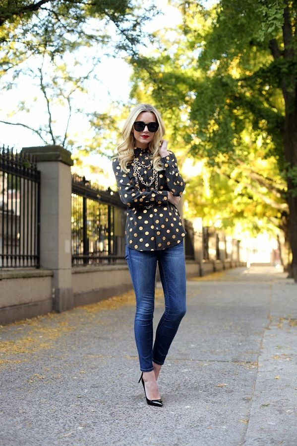 2018 Polka Dots Print Trend For Women (5)