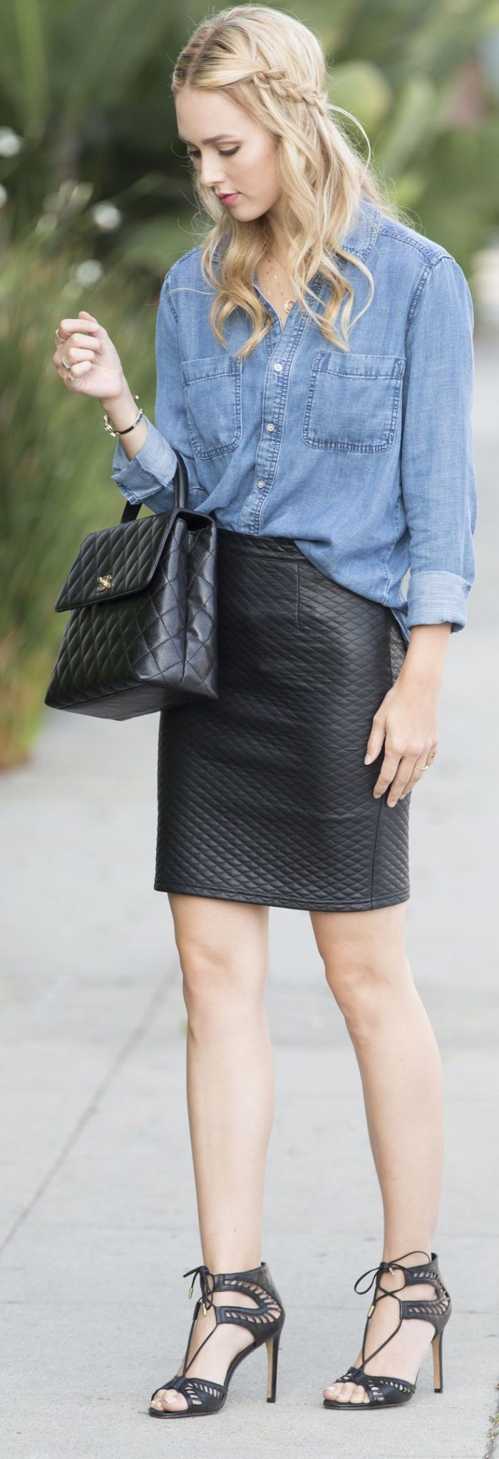 2018 Quilted Leather Skirts (5)