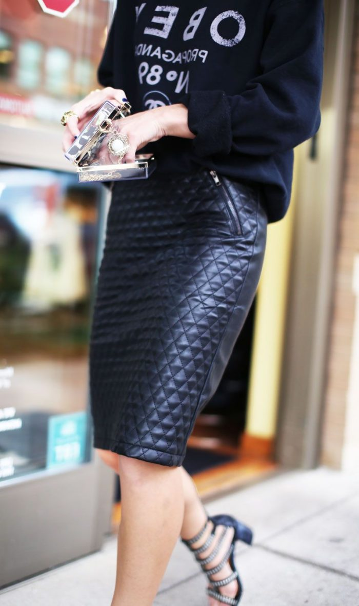 Quilted Leather Skirts Are Back 2021