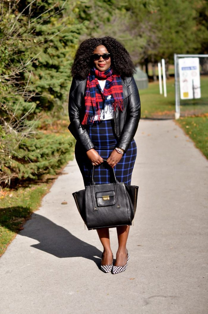 2018 Tartan Print For Plus Size Women (11)