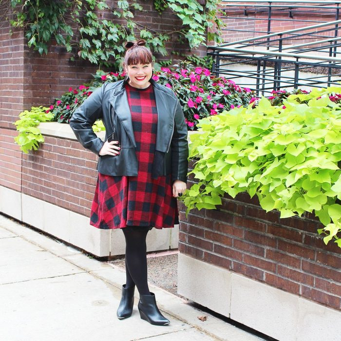2018 Tartan Print For Plus Size Women (2)