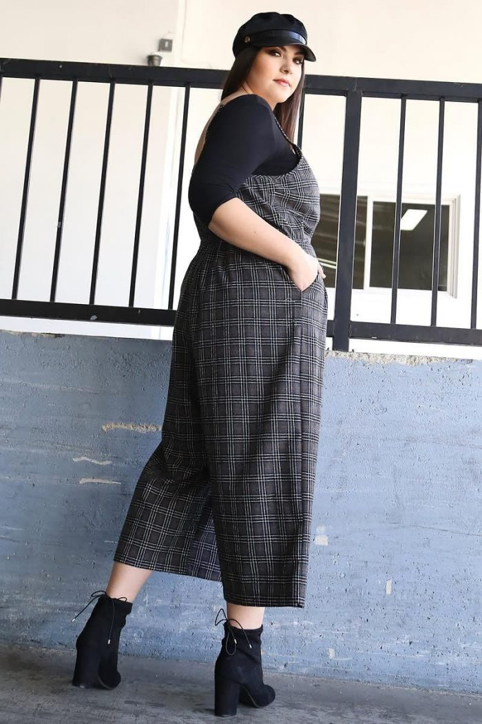 2018 Tartan Print For Plus Size Women (6)