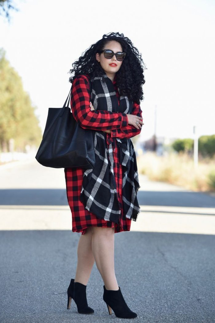 2018 Tartan Print For Plus Size Women (8)