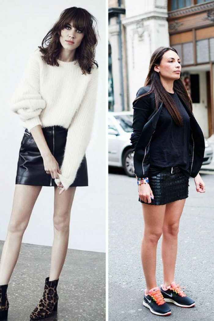 Black Leather Mini Skirts Summer 2018 (1)