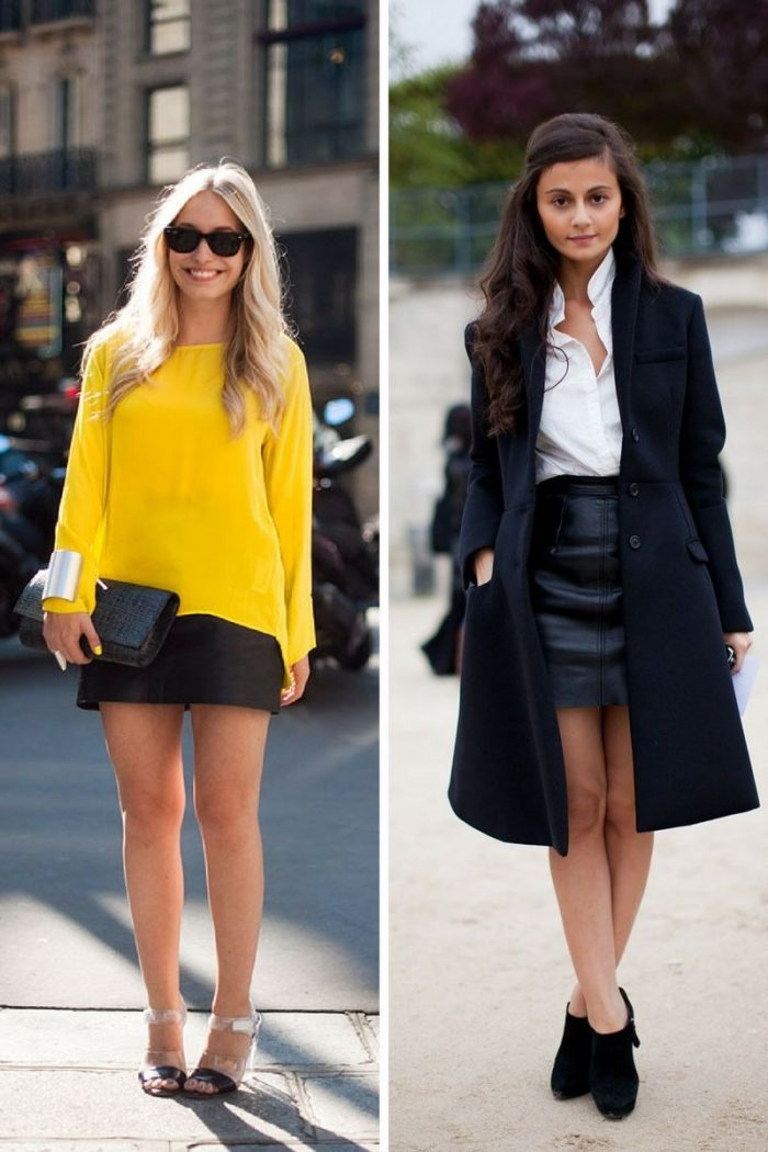 Black Mini Leather Skirts 2019