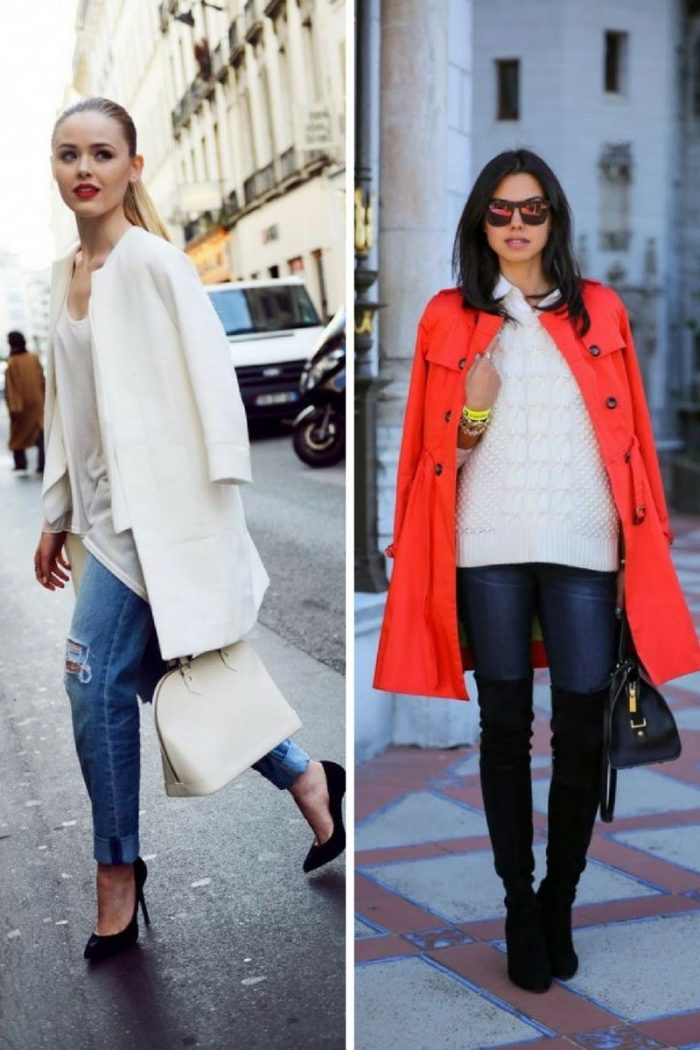 Collarless Coats For Women 2018 Street Style Looks (1)