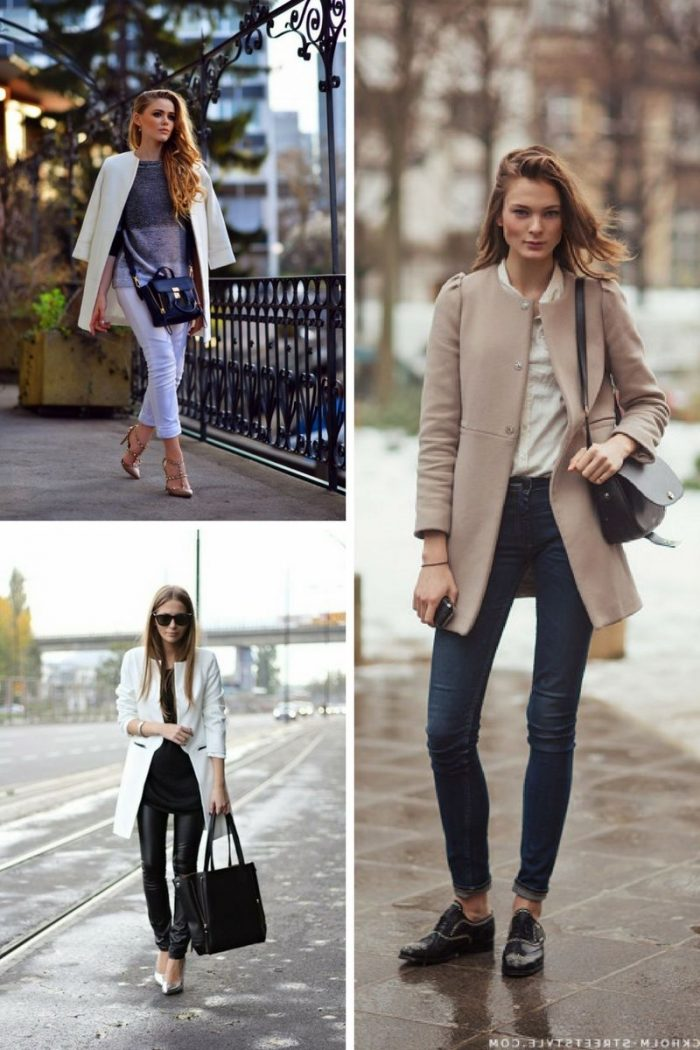 Collarless Coats For Women 2018 Street Style Looks (2)