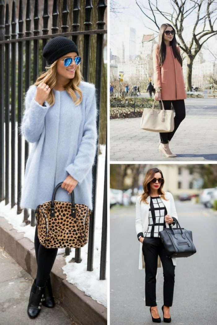 Collarless Coats For Women 2018 Street Style Looks (3)