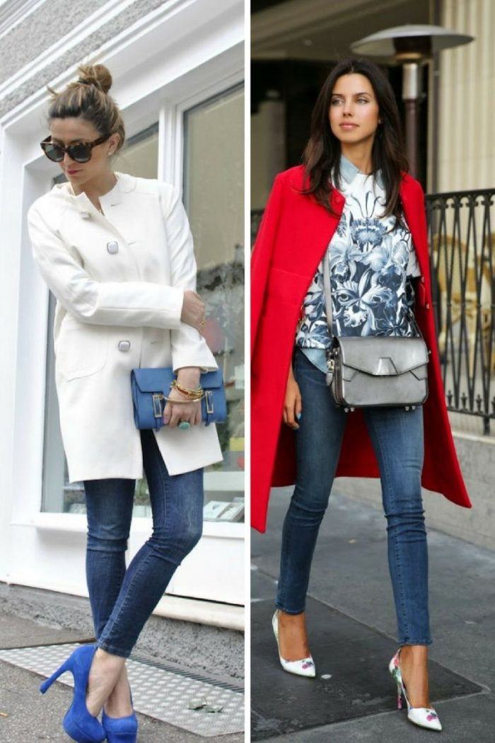 Collarless Coats For Women 2018 Street Style Looks (4)
