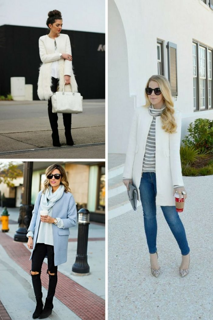 Collarless Coats For Women 2018 Street Style Looks (5)