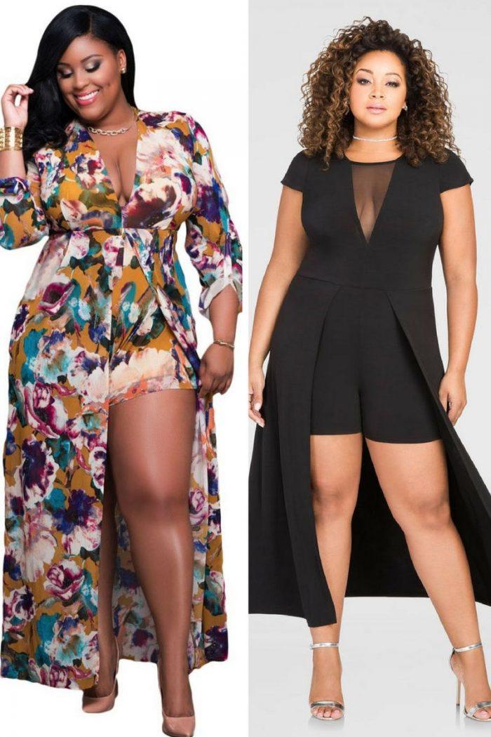 Plus Size Romper Maxi Dresses For Summer 2019