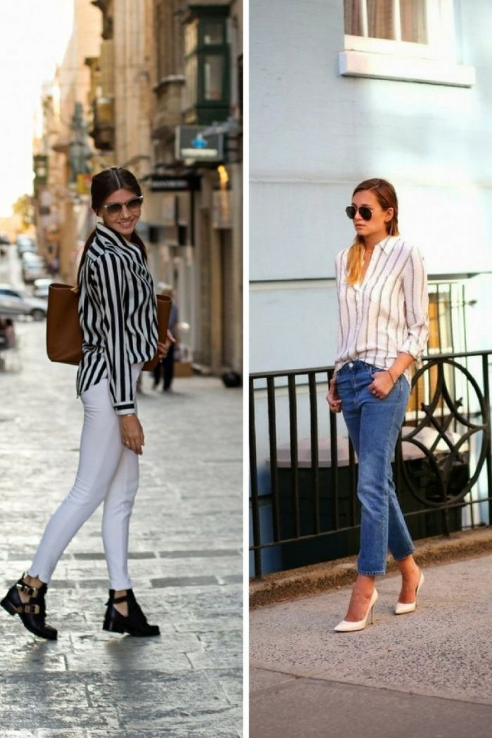 Striped Shirts For Women 2018 Street Style Ideas (1)