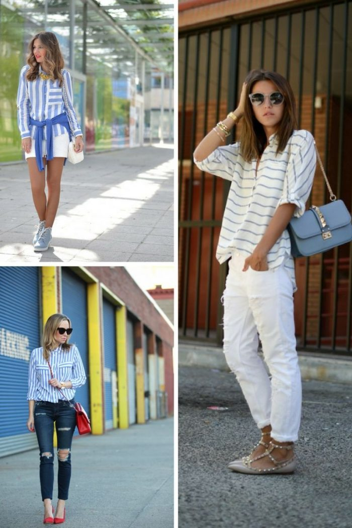 Striped Shirts For Women 2018 Street Style Ideas (3)