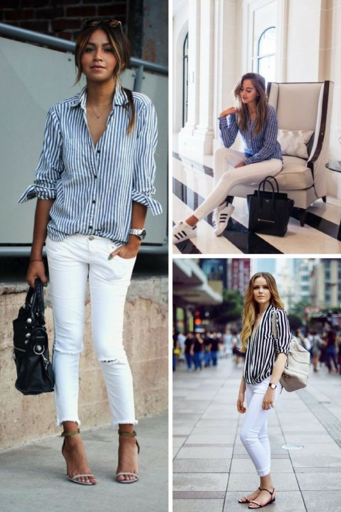 Striped Shirts For Women 2018 Street Style Ideas (5)