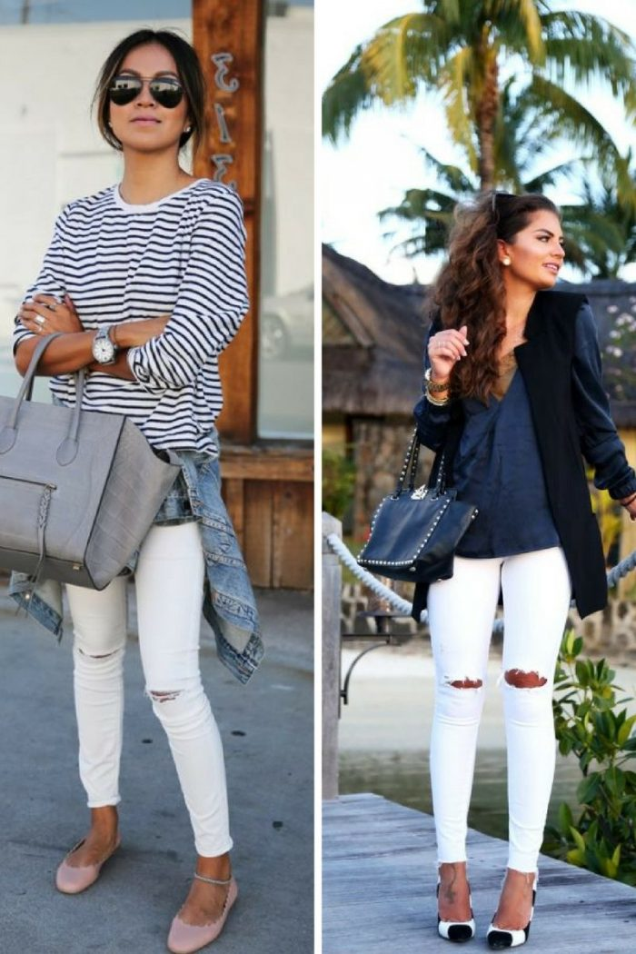 White Ripped Jeans For Women 2018 Best Combos (1)