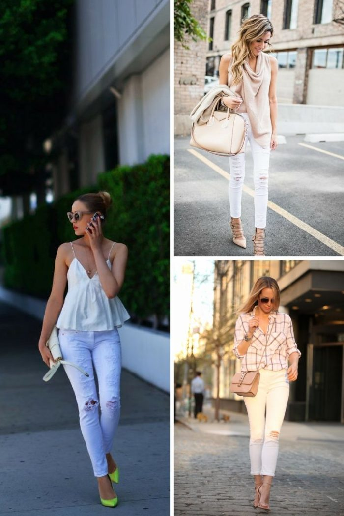 White Ripped Jeans For Women 2018 Best Combos (3)