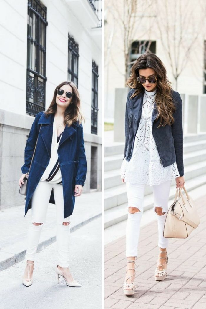 White Ripped Jeans For Women 2018 Best Combos (6)