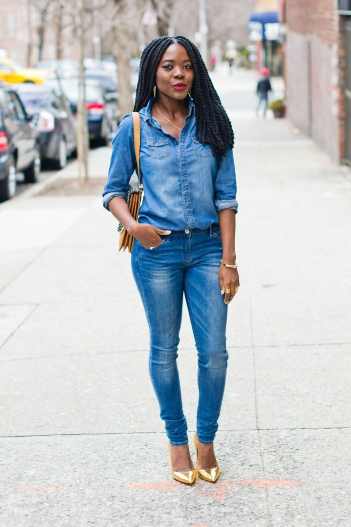 2018 Best Denim and Leather Combos For Women (17)