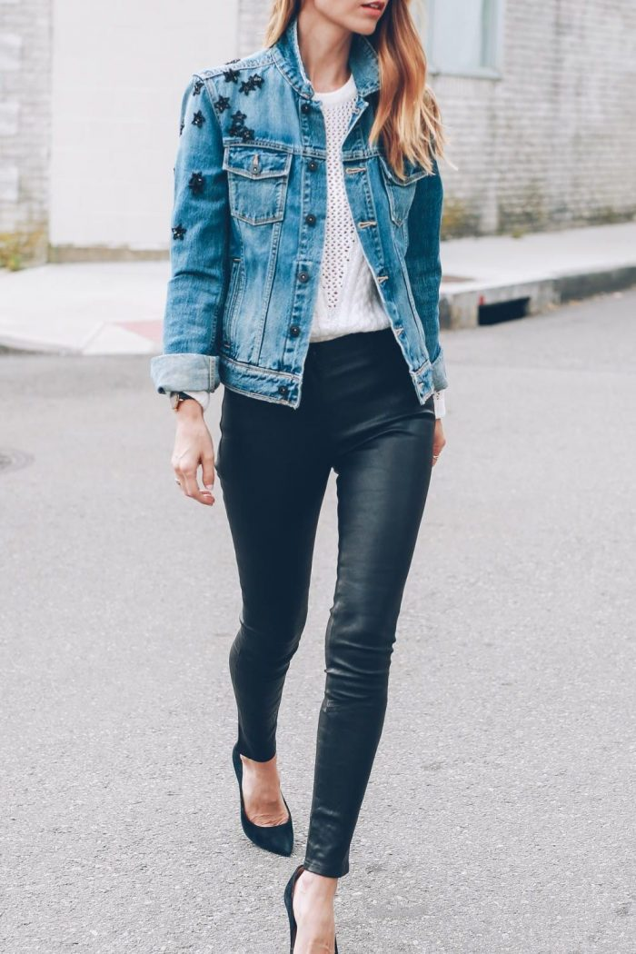 2018 Best Denim and Leather Combos For Women (2)