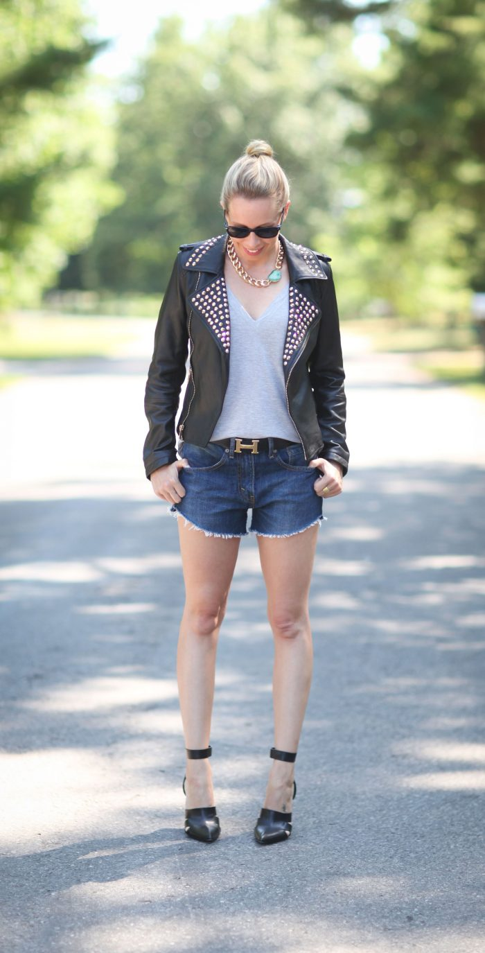 2018 Best Denim and Leather Combos For Women (26)