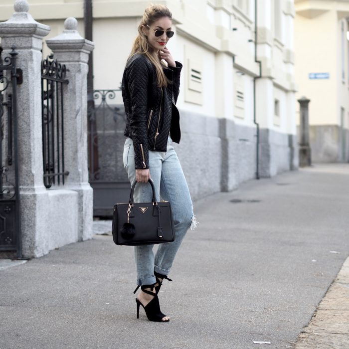 2018 Best Denim and Leather Combos For Women (28)