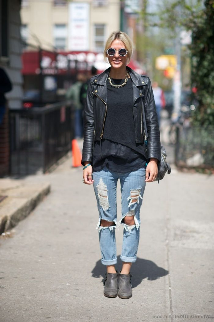 2018 Best Denim and Leather Combos For Women (7)