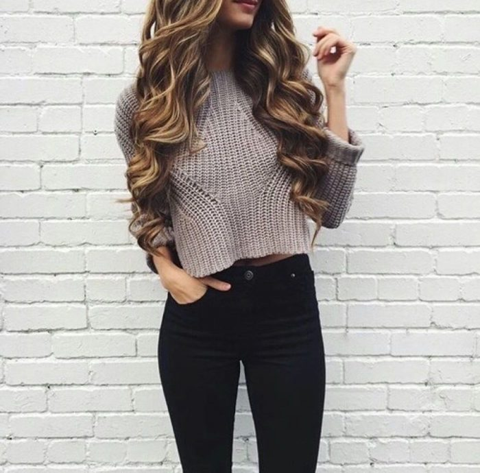 2018 Cropped Sweaters For Women (2)
