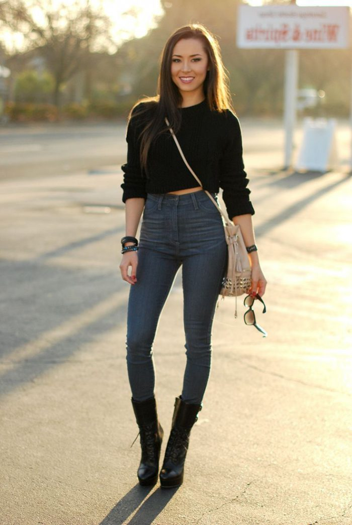 Winter Cropped Sweaters For Women 2021