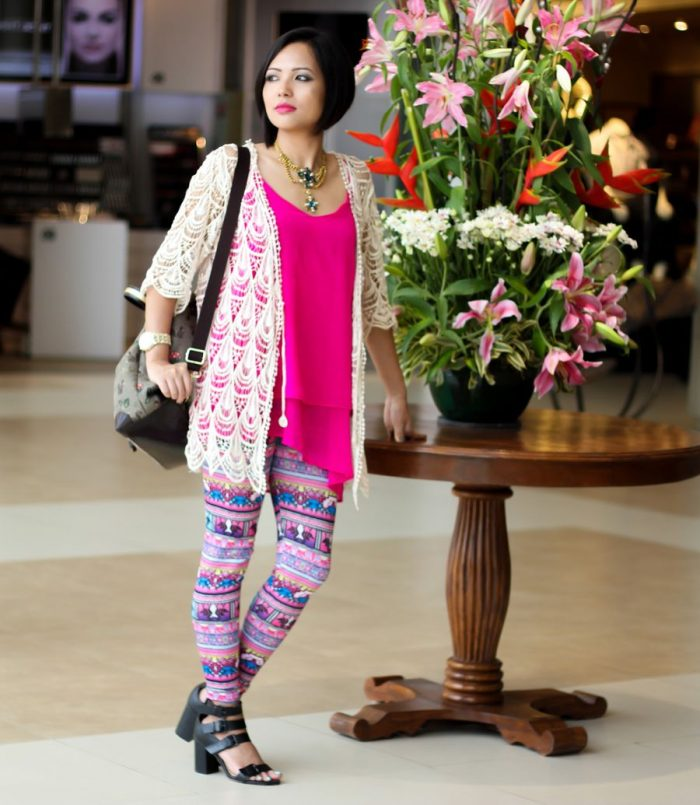 2018 Ethnic Print Leggings Women (14)