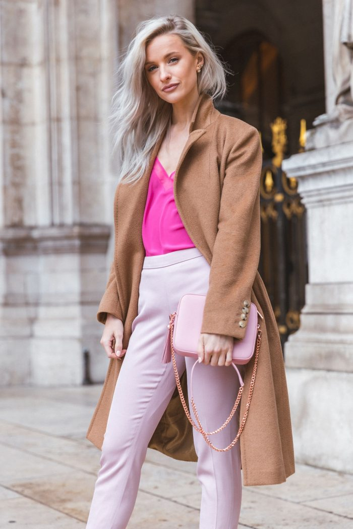 2018 Fall Pink Color Clothes For Women (2)