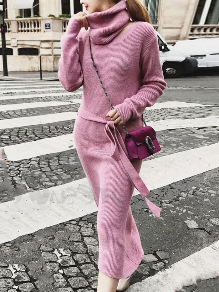 2018 Fall Pink Color Clothes For Women (7)