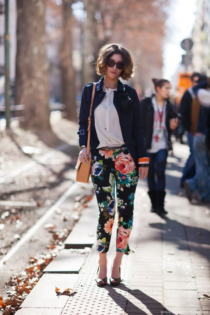 2018 Floral Pants For Women (10)