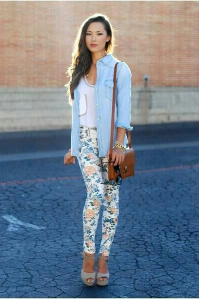 2018 Floral Pants For Women (7)