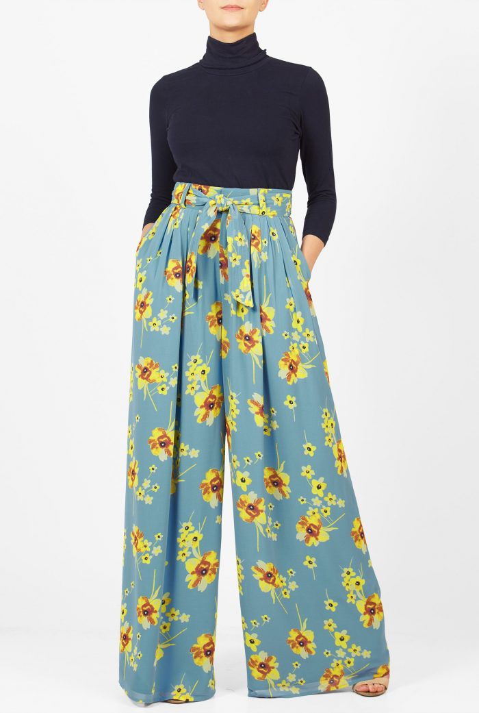 2018 Floral Pants For Women (8)