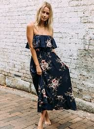 2018 Summer Strapless Maxi Dresses (13)