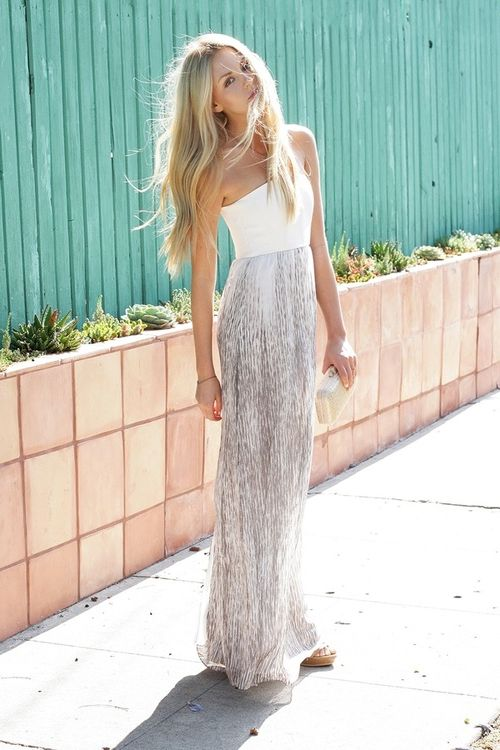 Strapless Maxi Dresses Summer Best Street Style Looks 2019