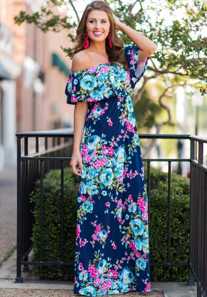 Strapless Maxi Dresses Summer Best Street Style Looks 2020