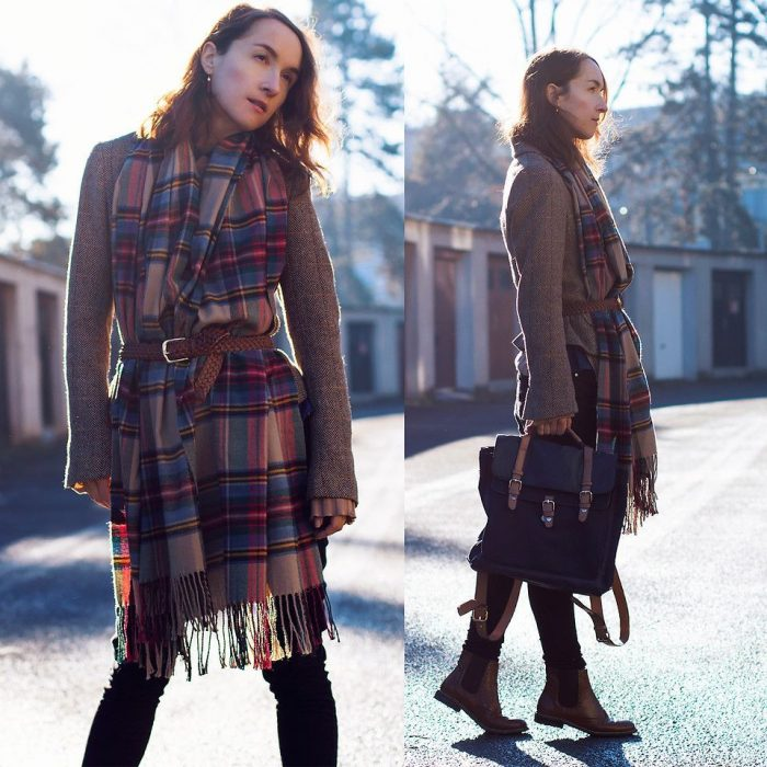 2018 Tartan Print Trends For Women (10)