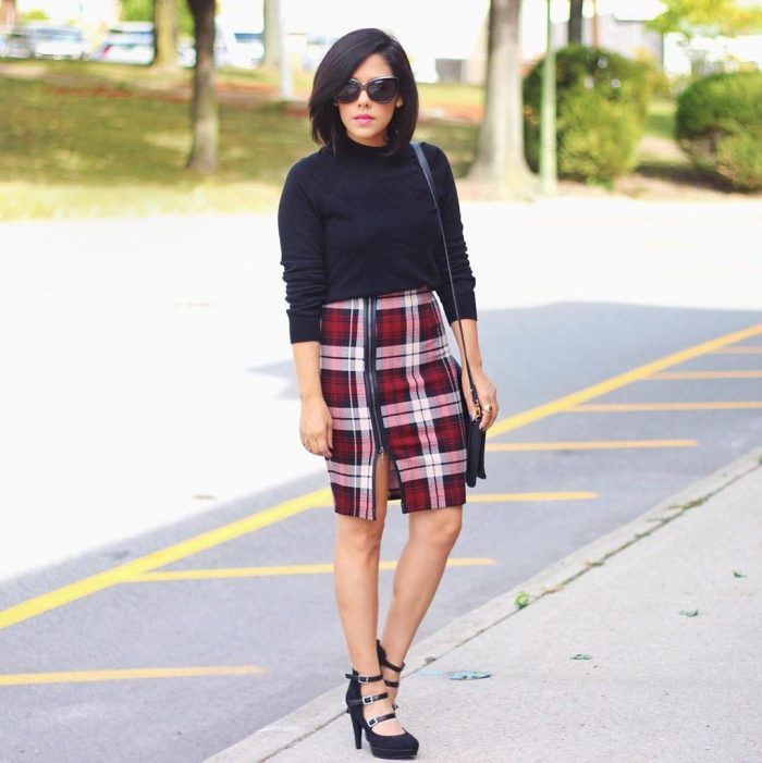 2018 Tartan Print Trends For Women (12)