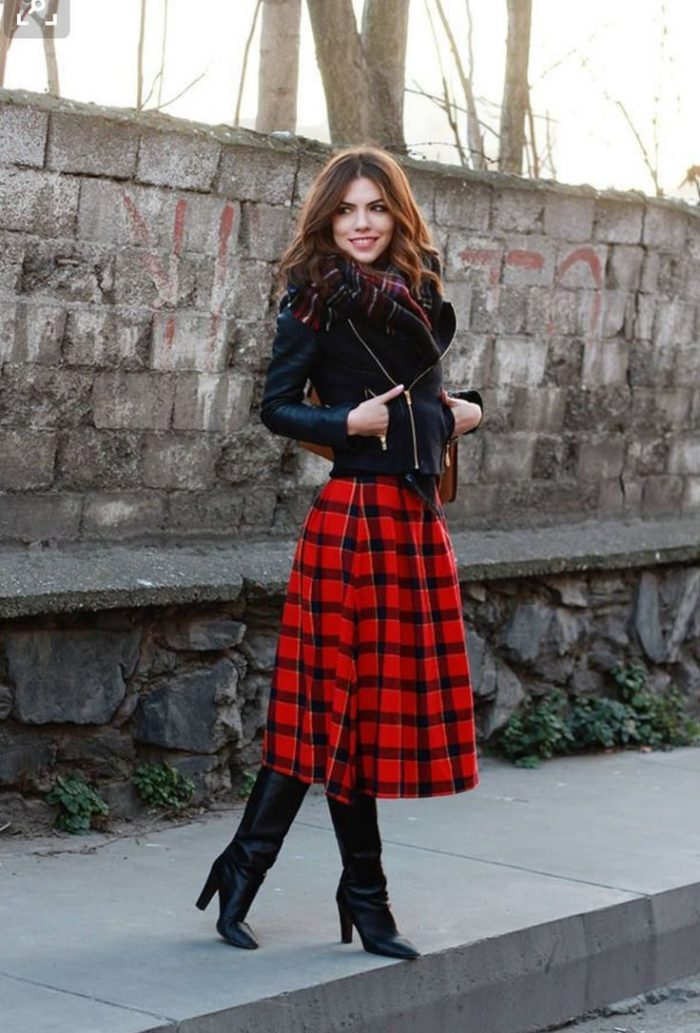 2018 Tartan Print Trends For Women (6)