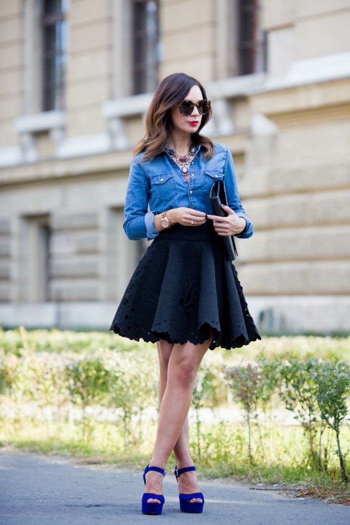 Flared Skirts Outfit Ideas 2019