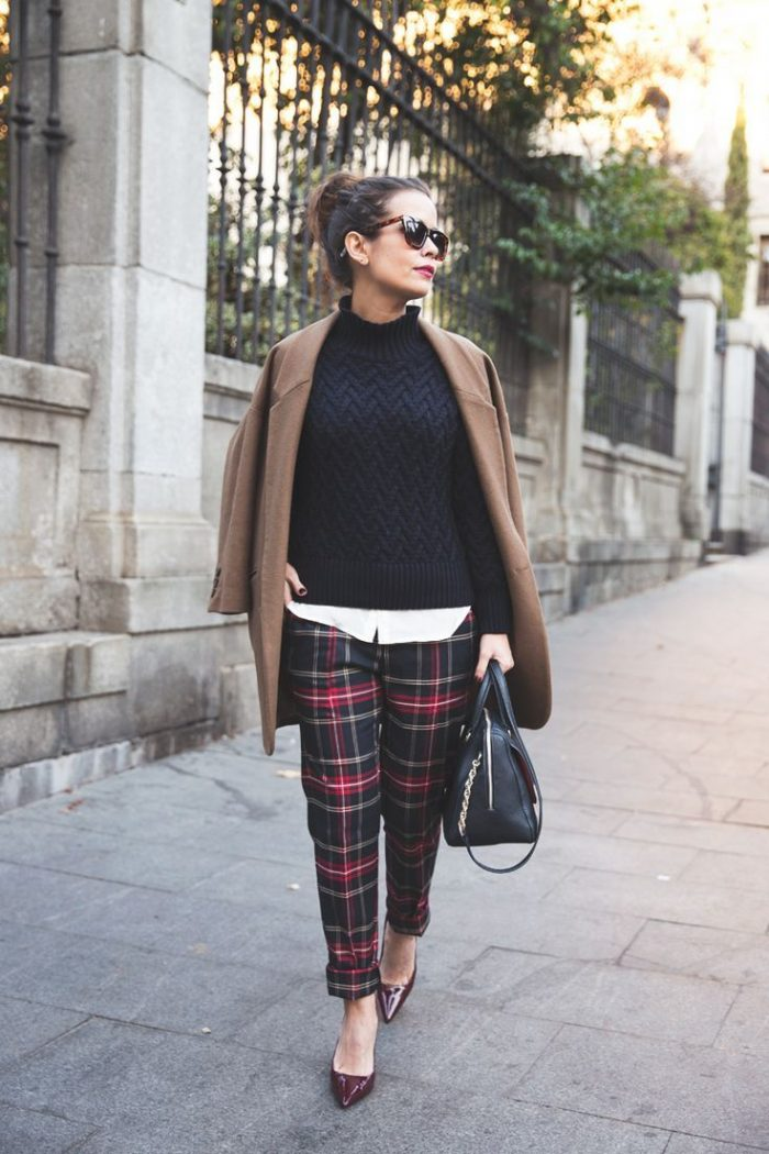 2018 Winter Plaid Print For Women (1)